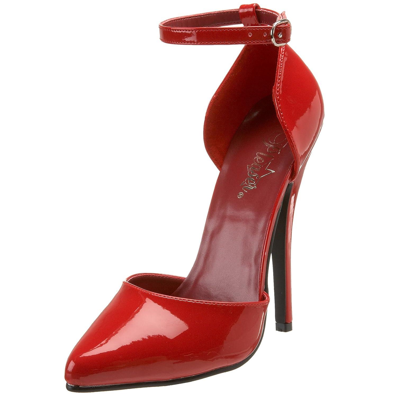 Pleaser DOMINA-402 - Zapatos de Tacón para Mujer 10 UK / 43 EU / 13 US|Rojo