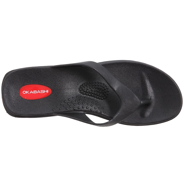 Amazon Com Okabashi Sandals Mid Heel Splash Bl 1 Each Flip Flops