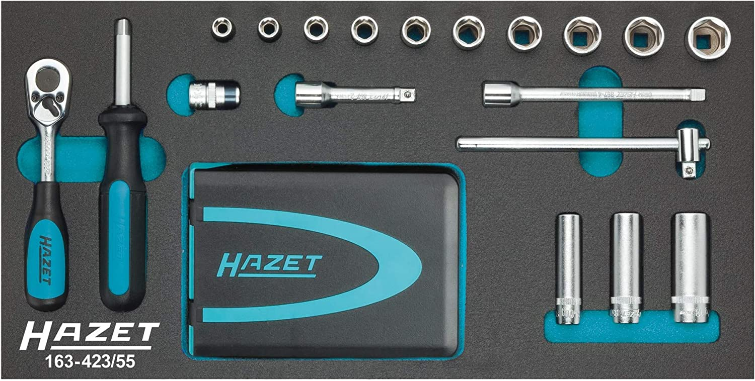 solid 6.3 mm HAZET Extension 867-2 Square hollow 6.3 mm 1//4 inch Square