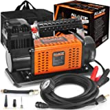 ALL-TOP Heavy Duty Portable 12V Air Compressor Kit Inflate 180L (6.35Ft³)/Min Max 150PSI Metal Heat Dissipation ensures…
