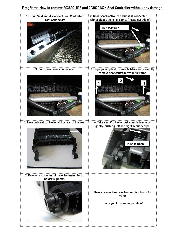 Mercedes Benz Seat Controller Passenger Side 1995 Mercedesbenz E320 Engine Wiring Harness W01331715518 Genuine Side2118704726 With 3 Year Warranty Automotive