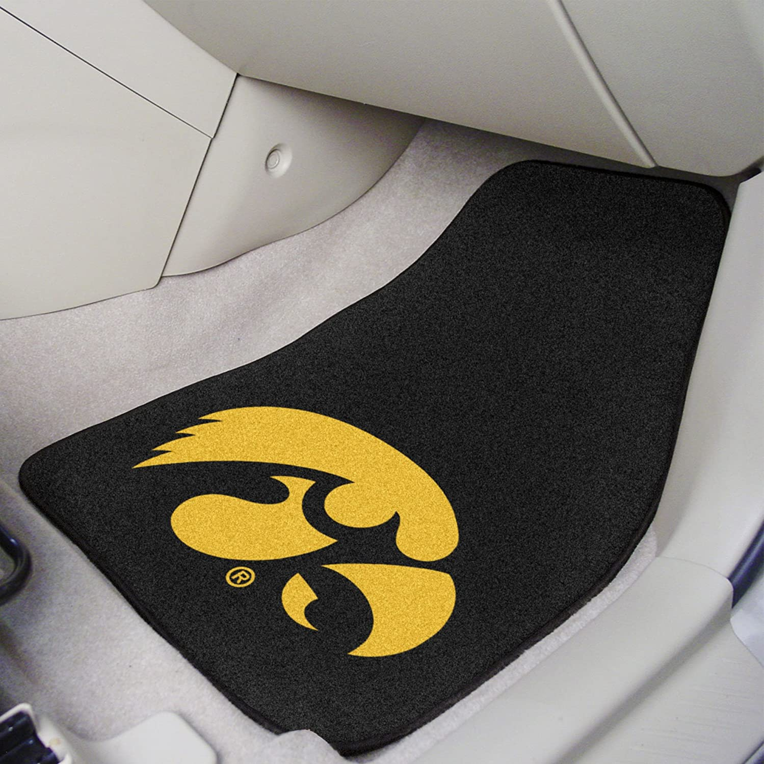 Fanmats Iowa Hawkeyes Carpeted Car Mats