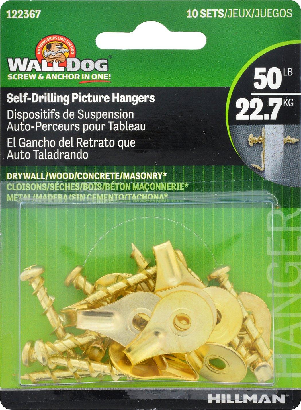 Hillman imagen 122367 WallDog – latón imagen Hillman perchas con gancho 8e865d