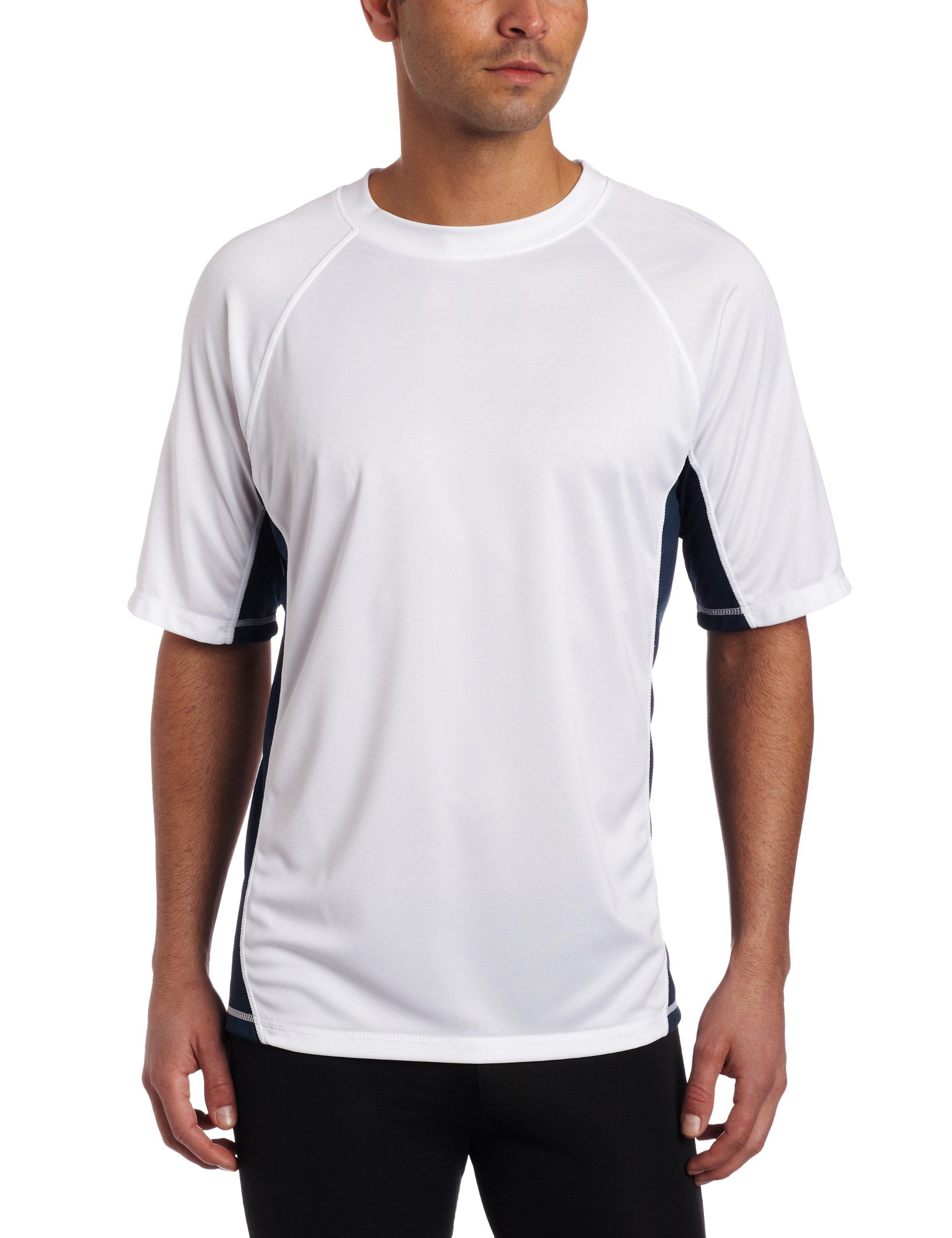 Kanu Surf Men's CB Rashguard UPF 50+ Swim Shirt, White, Small