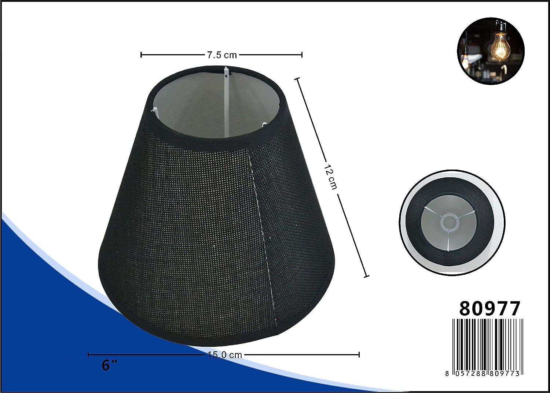 Lampenschirm Leinen Schräg Rund Stoff Textil Leinen Shabby Chic Landhaus Lampe Schirm für E14 und E27 6 Zoll weiß LinQ®