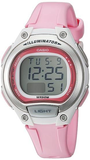 Casio – Reloj de cuarzo clásico para mujer de resina, estilo informal, color rosa