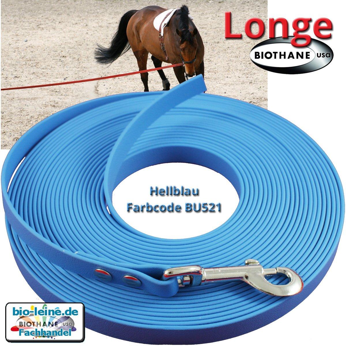 in 25 Farben Longe Longierleine f/ür Pferde 16mm aus Beta BioThane/® 5 bis 10 Meter lang Pferdelonge Longen f/ür Reitsport