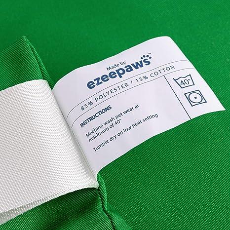 poli/éster Ezee Paws Bolsa de lavander/ía para mascotas con cremallera y gancho para colgar Verde Large
