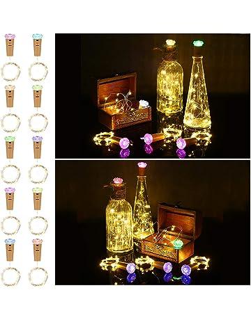 Botella de luz LED 10 Piezas con Cubierta de La Lámpara de Color, ACCEWIT 1