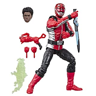 """Hasbro Power Rangers Lightning Collection 6"""" Beast Morphers Red Ranger Collectible Action Figure Toy with Accessories"""