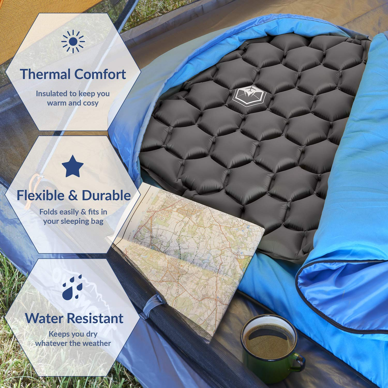 VENTURE 4TH Ultralight Inflatable Sleeping Pad