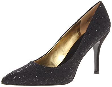 Nine West Women's Flax Dress Pump,Black Lace,10 ...