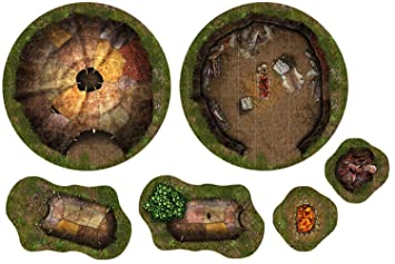 Wargaming RPG Adventure Tiles Savage Village Gridded 2D