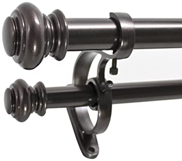 Curtains Ideas 140 inch curtain rod : Amazon.com: Decopolitan Urn Telescoping Double Drapery Rod Set, 72 ...