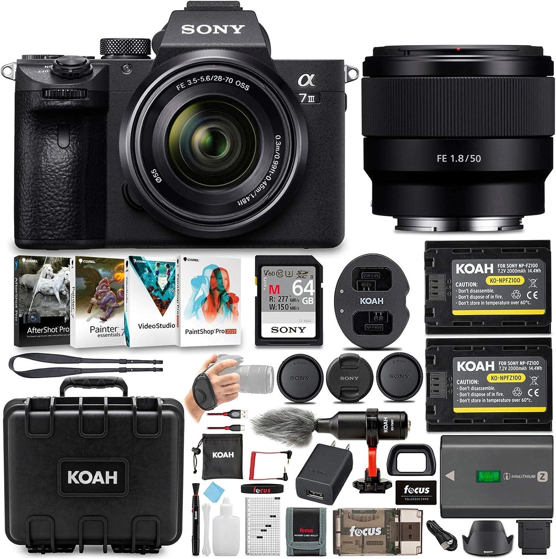 Sony A7 Iii Full Frame Mirrorless Camera With 28 70mm Kamera