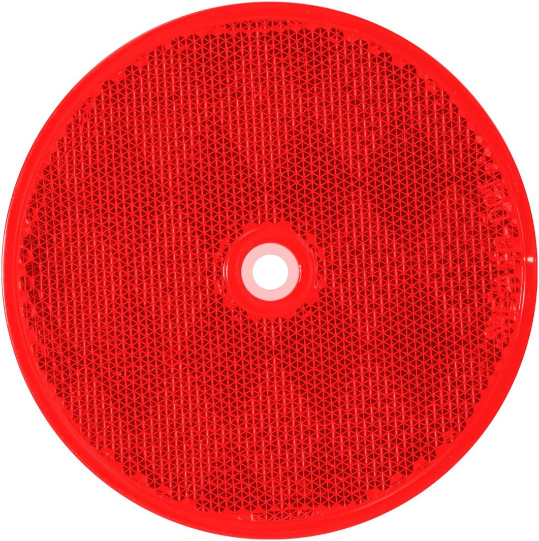 """Grand General 80825 Round Amber 2-3//8/"""" Reflector with Center Mounting Hole for Trucks 1 Pack Trailers Towing RVs and Buses"""