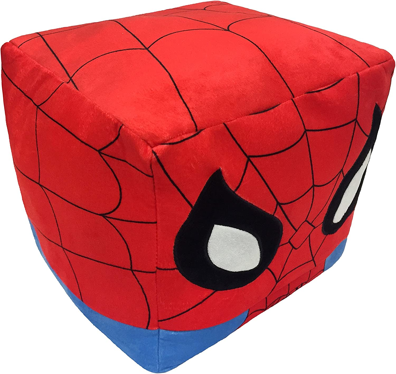 "Marvel's Spider-Man 4""x 4""x 4"" 3D Ultra Stretch Mini Cloud Cube Travel Pillow"