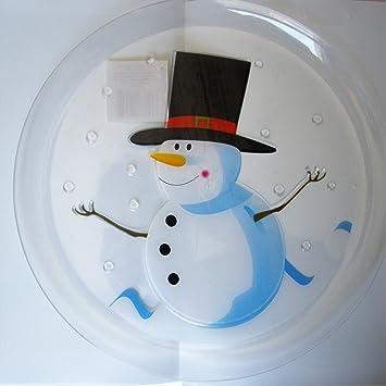 Bandejas Decorativas Platon aperitivos Muñeco de Nieve Christmas Plastico