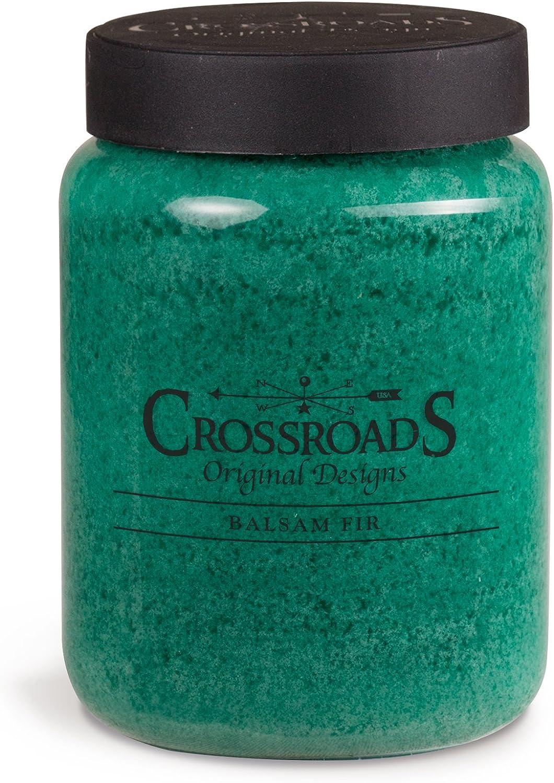 Crossroads Balsam Fir Scented 2-Wick Candle, 26 Ounce