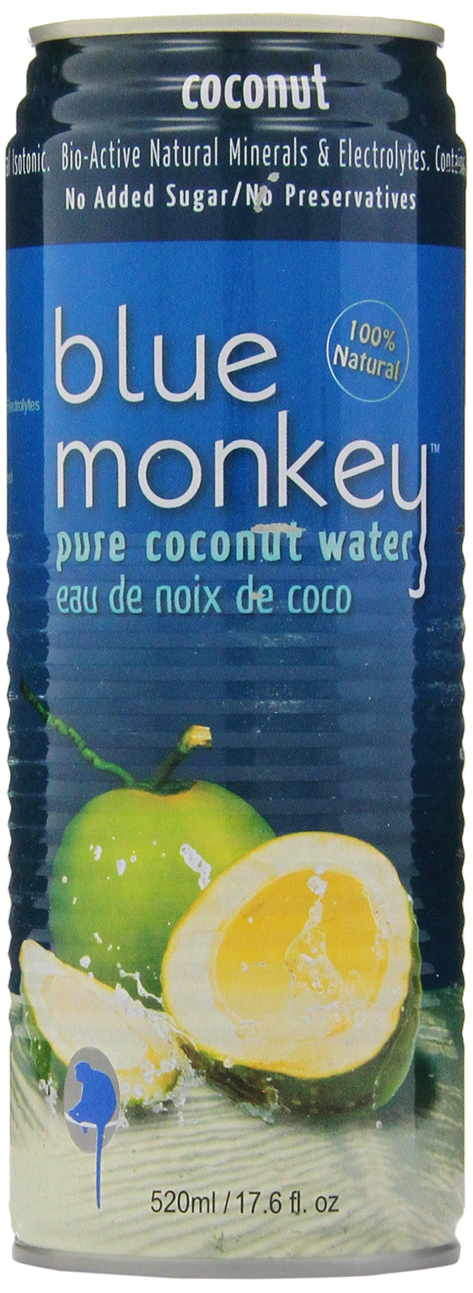Blue Monkey 100% Coconut Water, 1.33-Pound (Pack of 24)