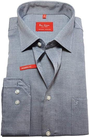 Camisa de manga larga Ben Green Redline Modern Fit, gris ...