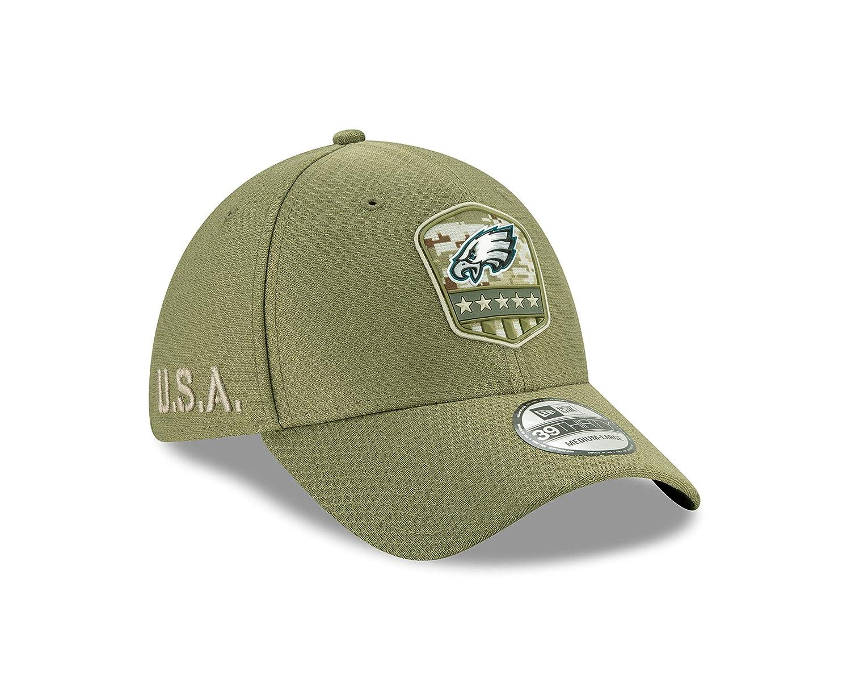 New Era Philadelphia Eagles 39thirty Stretch Cap On Field 2019 Salute to Service