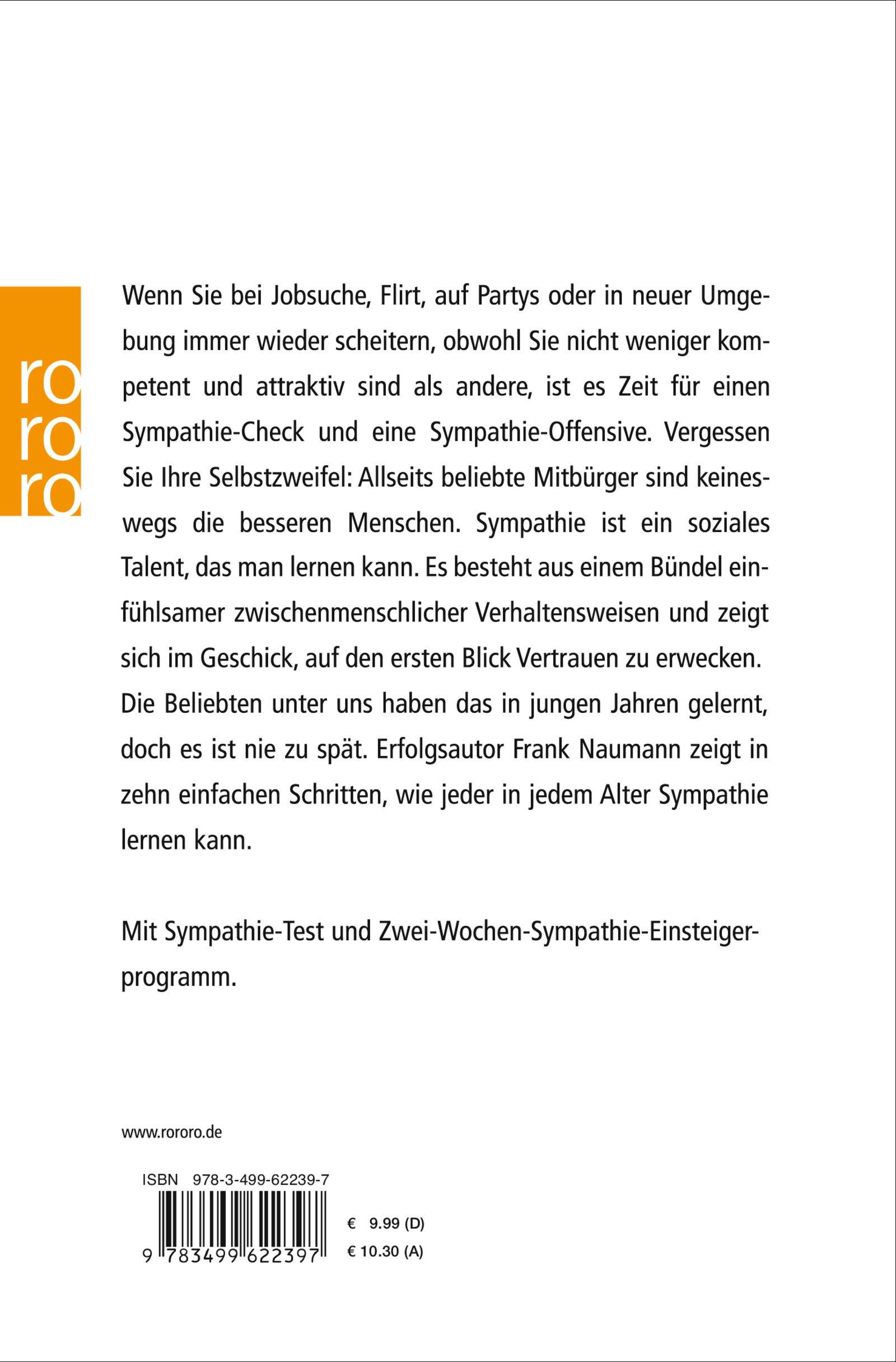 Die Kunst der Sympathie: Die selbstbewusste Art, sich beliebt zu machen:  Amazon.de: Frank Naumann: Bücher