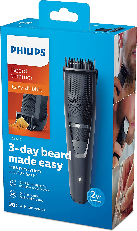 Philips BEARDTRIMMER Series 3000 BT3226/13 depiladora para la ...