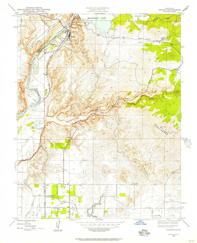 Amazon.com: California Maps | 1946 Friant, CA USGS ...