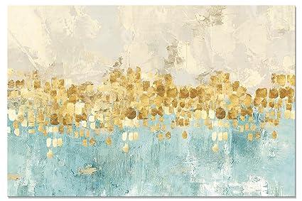 Stampe Cucina Moderna : Maison artwork moderno oro astratto stampe su tela arte muraria