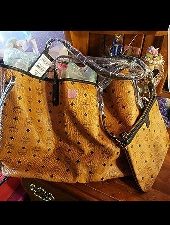 26371f1ee2e62 MCM Damen Reversible Shopper Project Visetos Large Cognac  Amazon.de ...