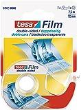 Tesa 57912-00000-01 Doppelseitiges Klebeband, 1 Rolle und Abroller