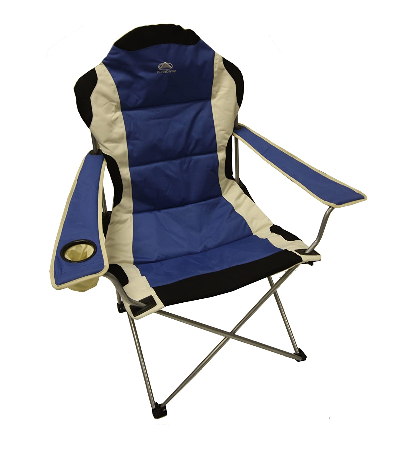 Sunncamp Deluxe Steel Super Folding Armchair Blue Amazon