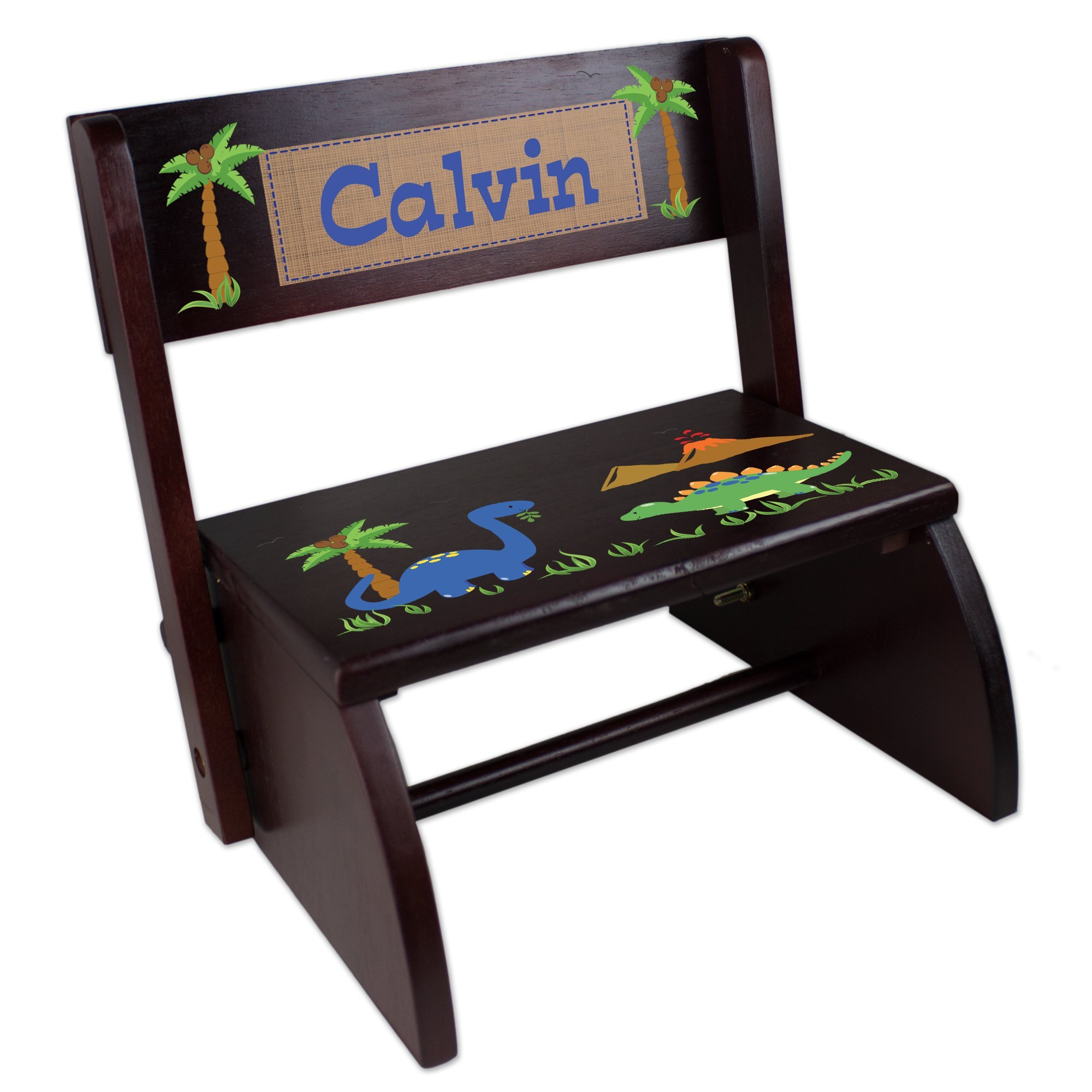 Personalized Dinosaur Folding Step Stool by MyBambino