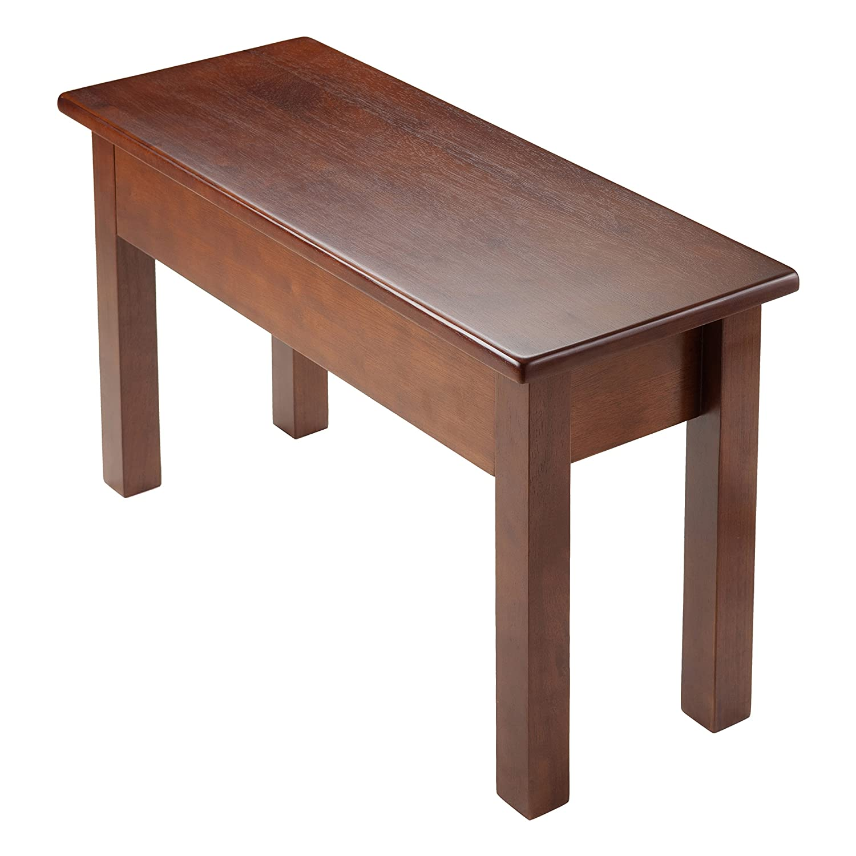 amazoncom winsome emmett bench with seat storage brown kitchen u0026 dining