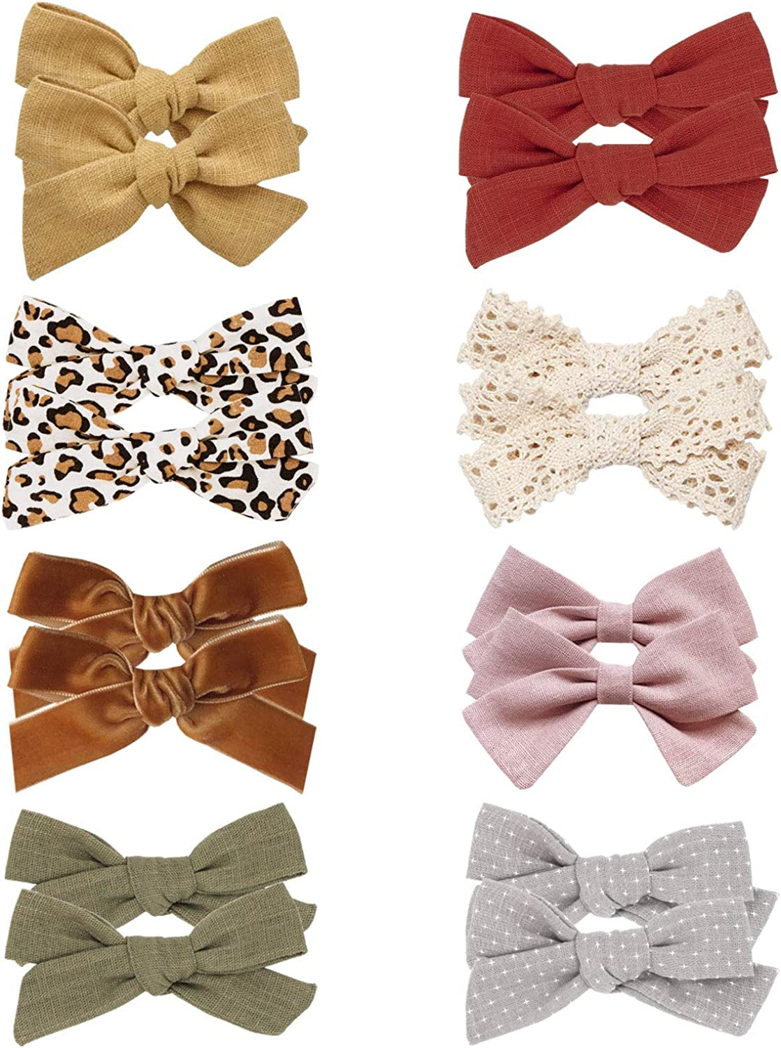 Details about  /20 Colors New Alligator Clips Girls Bow Ribbon Kids Sides Accessories cv46