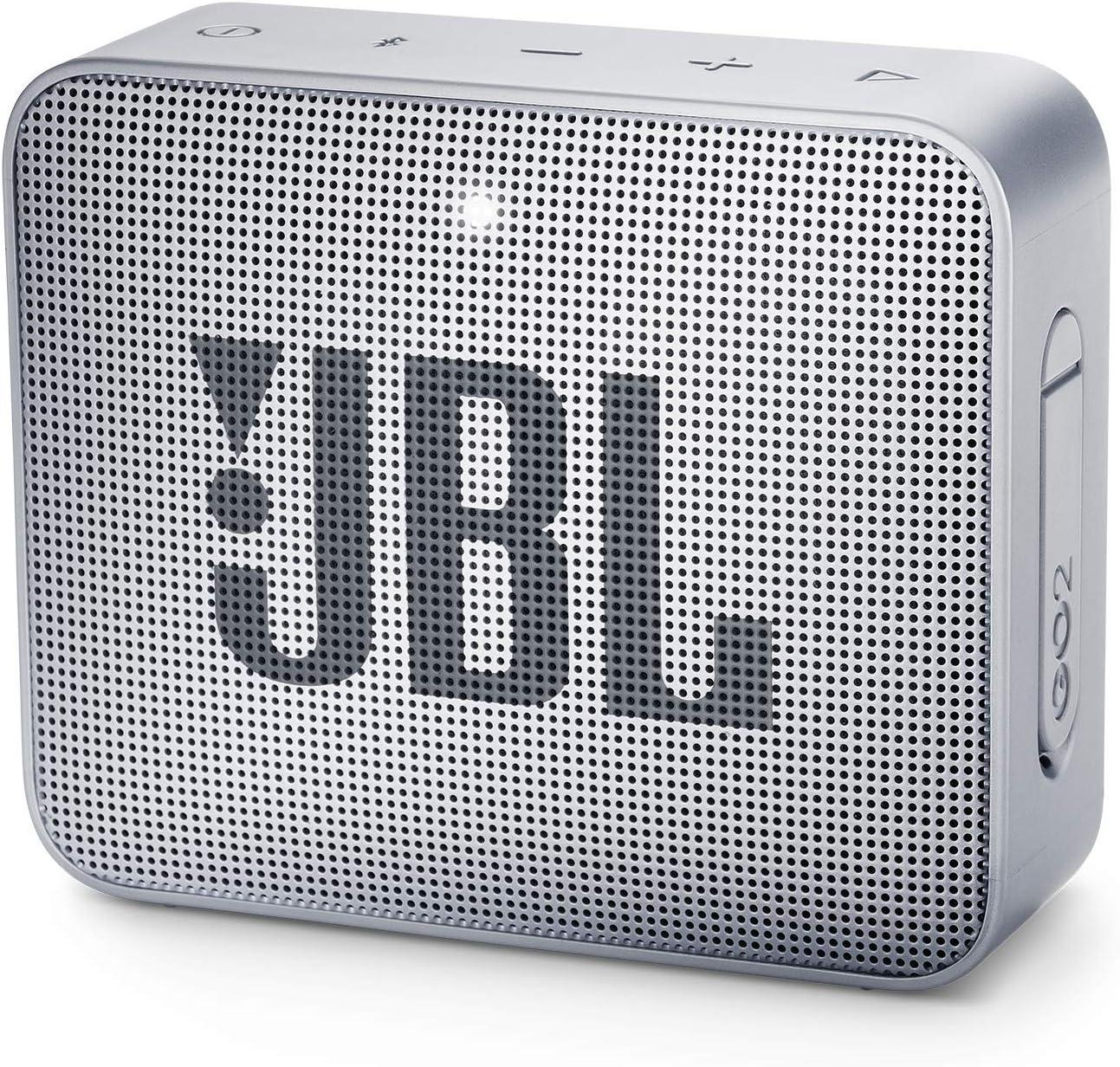 JBL Go 2 Portable Bluetooth Waterproof Speaker, Grey, 4.3 X 4.5 X 1.5