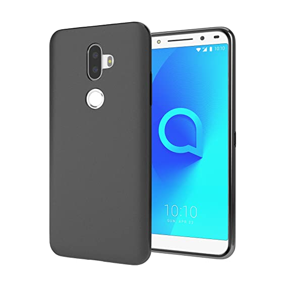 Cimo Slim Matte Alcatel 3V Case with Premium TPU Protection for Alcatel 3V  - Black