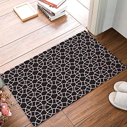 Amazon com : Libaoge Brown and Pink Geo Print Doormat Welcome Mat