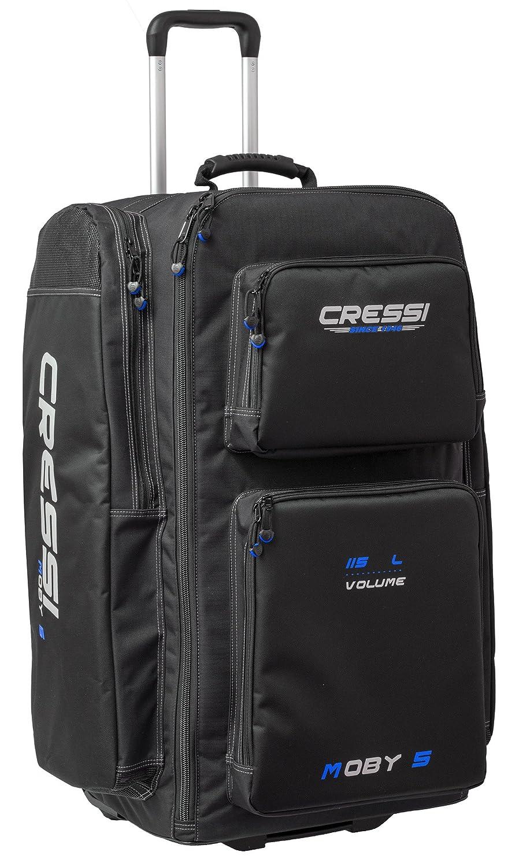 Cressi Moby 5, Borsone Sportivo per Atrezzature Subacque Unisex Adulto, Nero/Rosso, 76 x 40 x 28 cm
