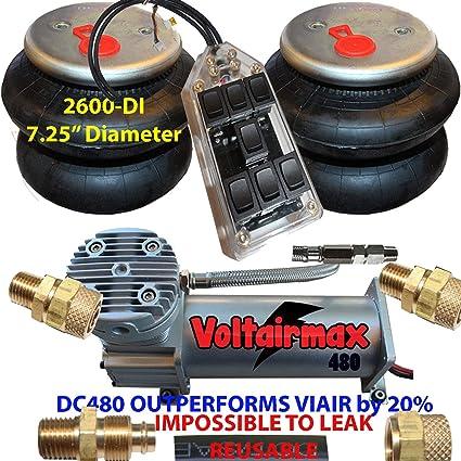 Air Bag Suspension Kits >> Amazon Com Chassis Tech Airride Compressor Dc480 Air Bag