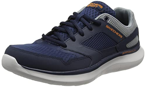 Skechers Quantum Flex-Hudzick, Scarpe Running Uomo, Blu (Navy/Gray), 42 EU