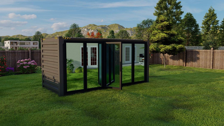 Backyard Prefab Office Shed Pod - Focus Office by YARDADU (Black)