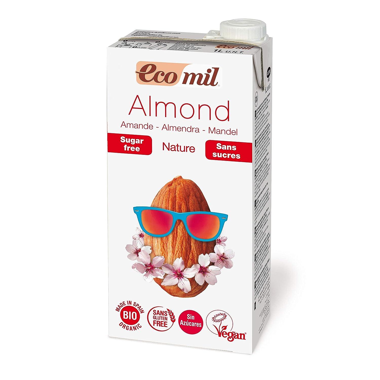 EcoMil Almond Nature, Bebida de almendra Sin azúcar - Pack de 3 unidades de 1L: Amazon.es: Alimentación y bebidas