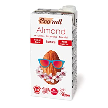 Ecomil Organic Almond Drink Natural Unsweetened Vegan 33.8oz