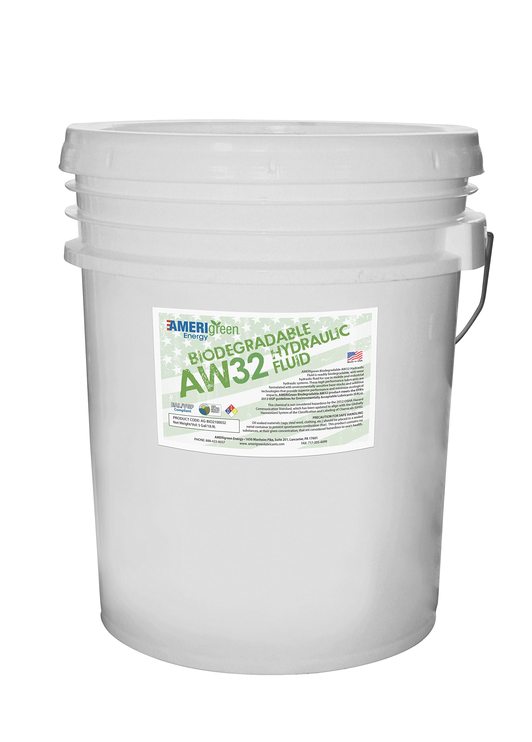 Amerigreen Energy Biodegradable Hydraulic Fluid AW32 (5 Gal Pail) by Amerigreen Energy