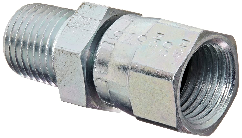 Carbon Steel 3//4 JIC 3//8 Male Pipe Size JIC 37/° /& NPT End Types f m End Size x 3//8 NPT 1//2 Tube OD Eaton Aeroquip 2018-6-8S Female 37 Degree JIC Swivel to Male Pipe