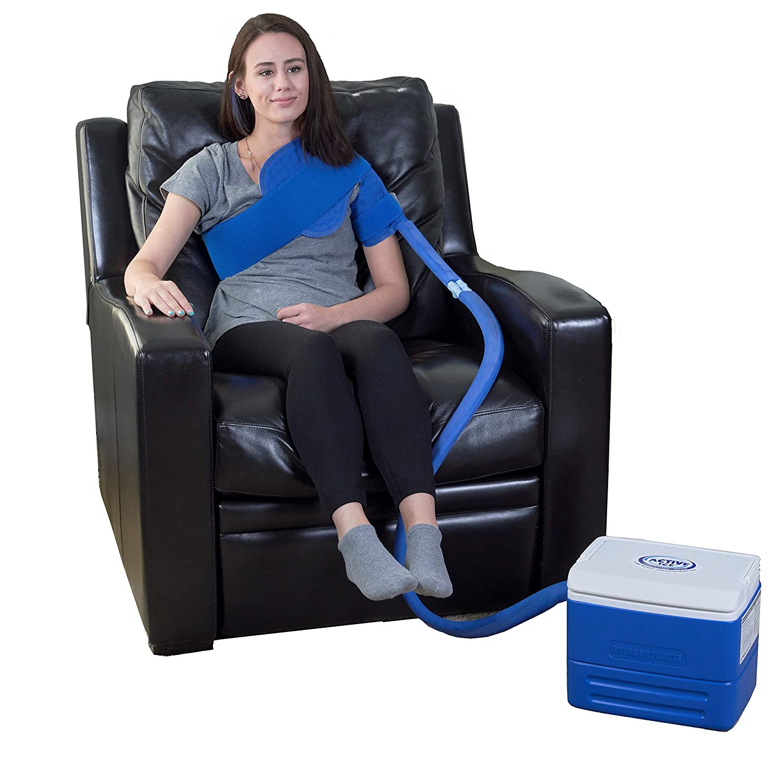 Polar Products Active Ice® 3.0 Shoulder Cold Therapy System with Digital Timer Includes Shoulder Bladder, 9 Quart Cooler