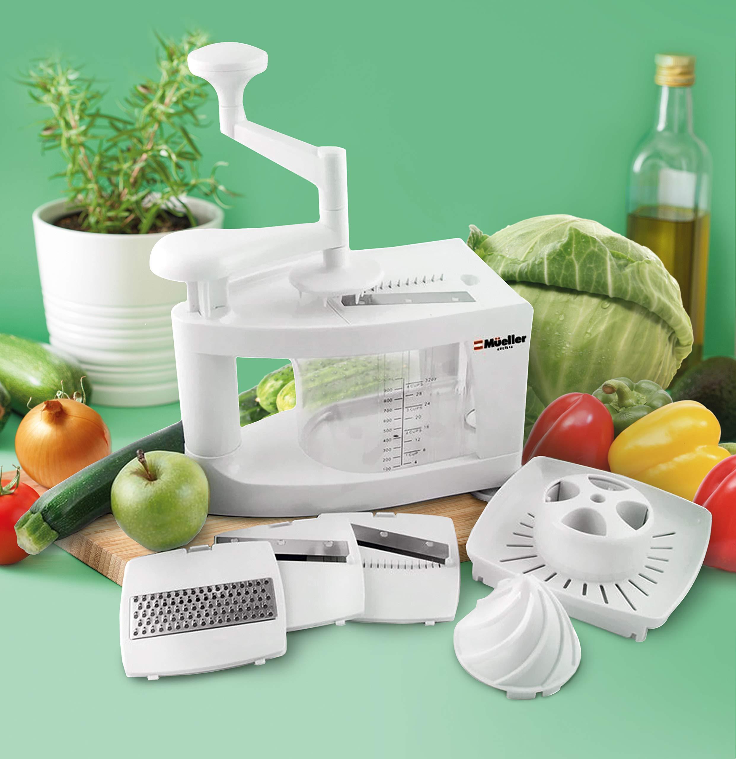 Mueller Spiral-Ultra Multi-Blade Spiralizer, 8 into 1 Spiral Slicer, Heavy Duty Salad Utensil, Vegetable Pasta Maker and Mandoline Slicer for Low Carb/Paleo/Gluten-Free Meals by Mueller (Image #5)
