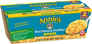 product image for Annie's Macaroni & Cheese, Rice Pasta & Cheddar Gluten Free Mac and Cheese, Microwave Cups, 2 Cups, 2.01 oz Each